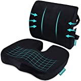Coccyx Orthopedic Seat Cushion and Lumbar Support Pillow for Office Chair Memory Foam Car Seat Cushion with Washable Cover Er