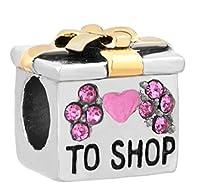 reisjewelry to ShopバッグチャームLoveショッピングチャームビーズのブレスレット