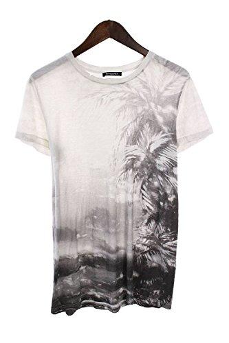 (バルマン) BALMAIN 【13SS】【S3HJ601I109】パームツリープリントTシャツ(S/ホワイト×グレー調) 中古