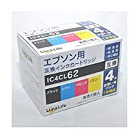 -まとめ-ワールドビジネスサプライ・-Luna・Life-・エプソン用・互換インクカートリッジ・IC4CL62・4本パック・LN・EP62/4P-×3セット-