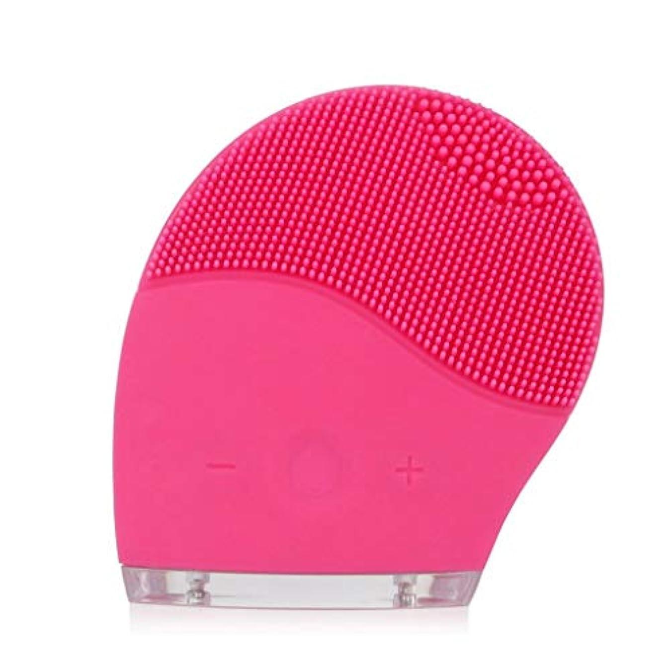 ネコ先駆者落ちたフェイシャルクレンジングブラシ、電気シリコーンフェイシャルマッサージブラシ防水アンチエイジングスキンクレンザー、ディープエクスフォリエイティングメイクアップツール、フェイシャルポリッシュ、スクラブ (Color : Pink)