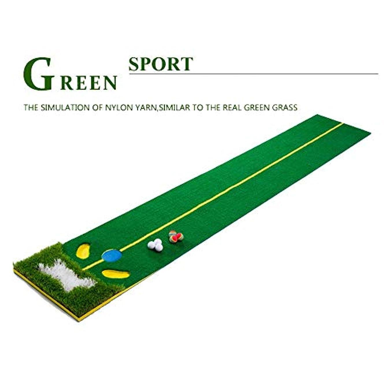 毎年シネマ蒸し器屋内および屋外のためのパターゴルフボールが付いている専門の大きいゴルフパッティンググリーンのマットの人工的な草のゴルフ訓練の援助装置のマット