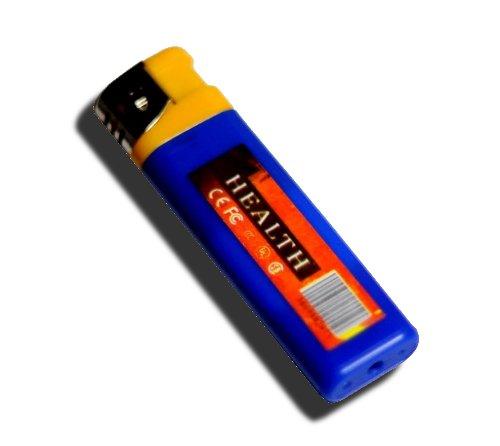 100円ライター型ビデオカメラ ブルー -音声感知自動録画・・・