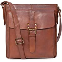 Ashwood Cross Body Bag - Kindle iPad Tablet - A5 Mid-Size - Shoulder Messenger Work Travel Bag - Genuine Leather - 7994