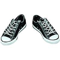Fenteer 1ペア  1/6スケール キャンバスシューズ  靴 スニーカー 12 インチ男性のアクションフィギュア用  ラバー   全4色 - ブラック
