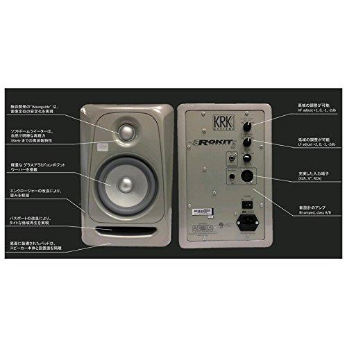 KRK ROKIT 5 G3 Platinum (プラチナ) パワードモニタースピーカー ( RP5 G3) 限定モデル 国内正規品