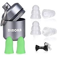 耳栓 ライブ 睡眠 DINOKA 高性能 安眠 防音遮音 イヤプラグ 飛行機 空港 勉強 工事 コンサート 水洗い可 耳保護 視覚保護 3種入れ 携帯ケース付き …