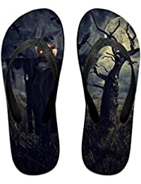 Couple Slipper Scarecrow Print Flip Flops Unisex Chic Sandals Rubber Non-Slip Beach Thong Slippers