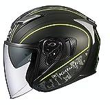 オージーケーカブト(OGK KABUTO)バイクヘルメット ジェット EXCEED DELIE(デリエ) フラットカモイエロー (サイズ:L) 584450