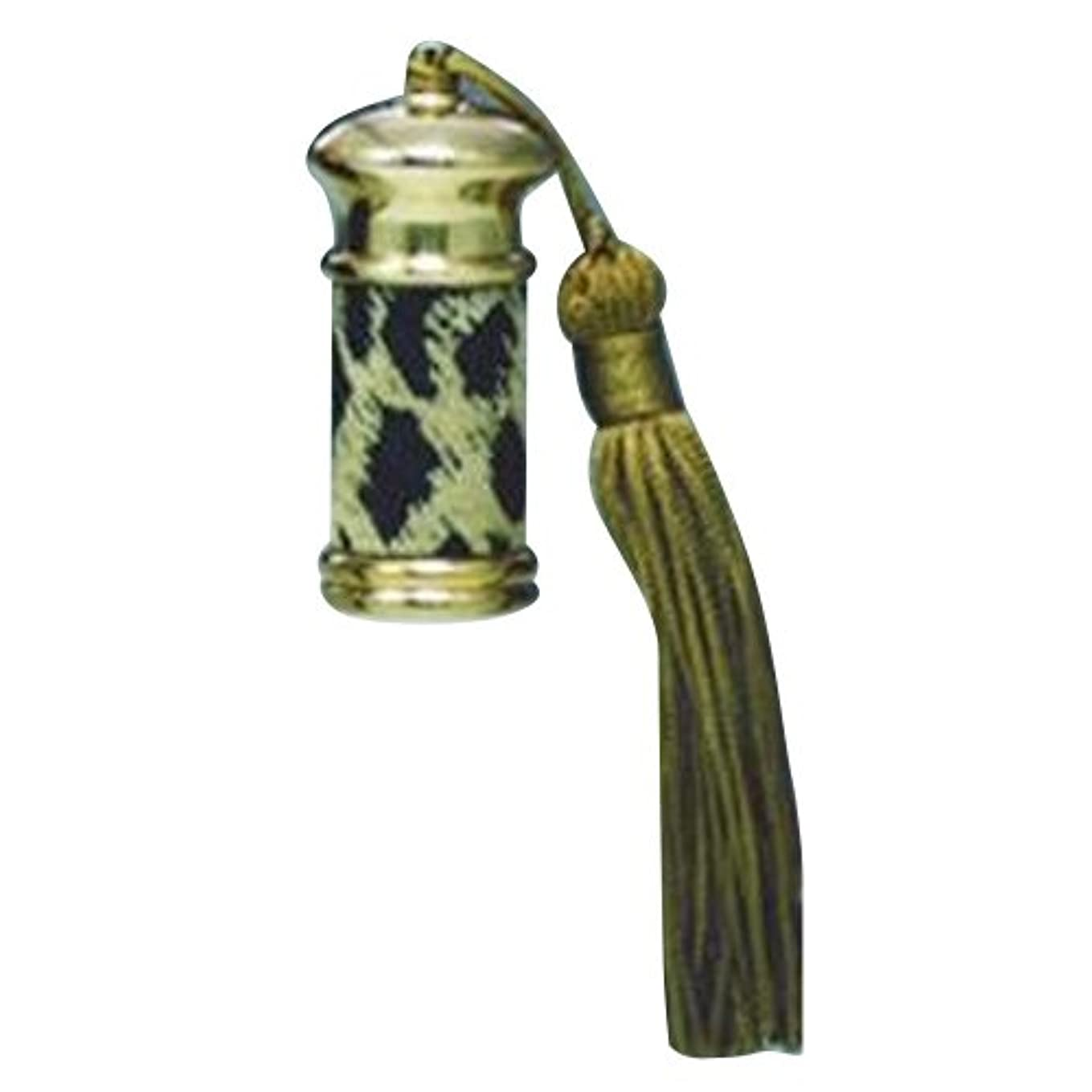 黙華氏亡命ヒロセアトマイザー エスニック レザー ボトル (真鍮 革巻き) 23012 ヒョー