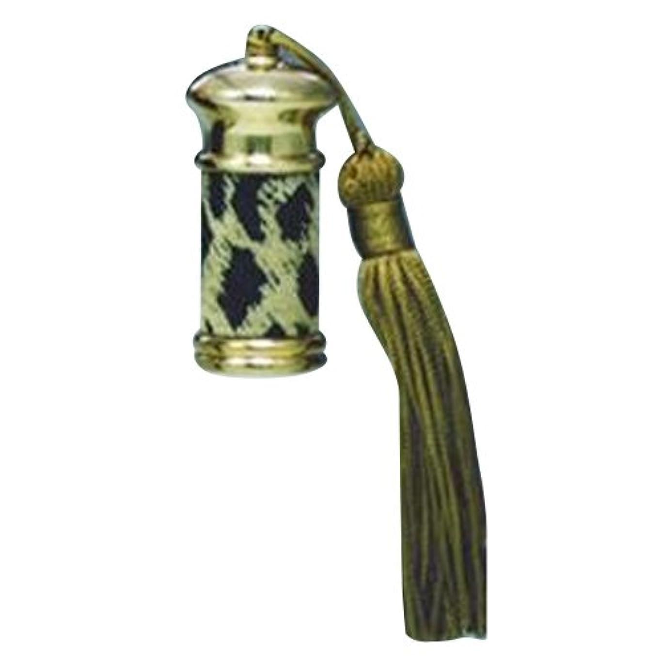 設計図陰謀不規則なヒロセアトマイザー エスニック レザー ボトル (真鍮 革巻き) 23012 ヒョー