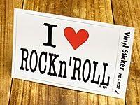 ステッカー アイラブ I LOVE ROCK'n ROLL ロックンロール_SC-IL001-GEN