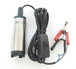 damply 12V 小型 水中ポンプ 12L min ケーブル 3m スイッチ式 バッテリー クランプ 給排水 電動 ポンプ 1mホース付き