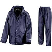 Result Core Childrens/Kids Unisex Junior Rain Suit Jacket And Trousers Set