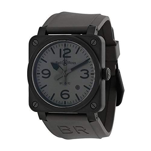 [ベルアンドロス]Bell & Ross 腕時計 Bell and Ross Commando Grey Dial Grey Rubber Watch BR0392-COMMANDO-CE メンズ [並行輸入品]