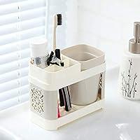 ブラッシングカップホルダー、歯ブラシホルダー歯ブラシカップセット、カップルバスルーム口カップホルダー、歯磨き粉歯ブラシホルダー収納歯箱。