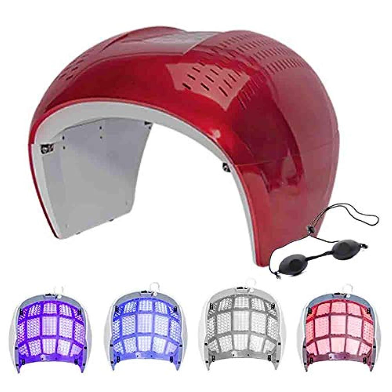 フォームハウジングコーナーポータブルアクネライトセラピーホームサロン使用のためのしわ除去アンチエイジングスキンフェイシャルケア美容トリートメントマシンをマスク,1