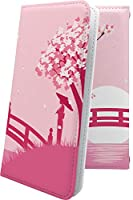 iida INFOBAR A01 ケース 手帳型 風景 サクラ 桜 イイダ インフォバー 手帳型ケース 和 和風 和柄 iidainfobar a 01 月