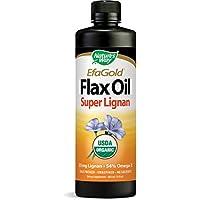 海外直送品Nature's Way Flax Oil, SUPER LIGNAN, 16 OZ
