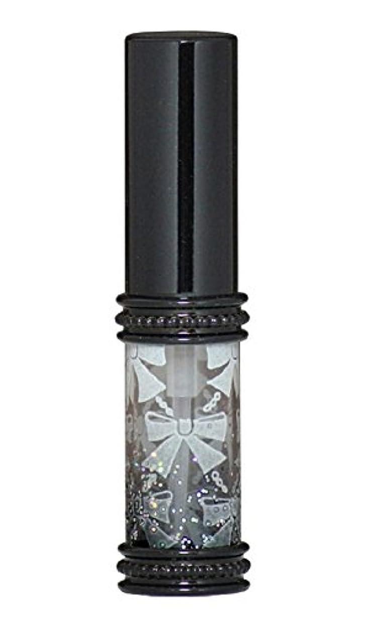 見る彫刻シュガーヒロセアトマイザー メタルリボン 16209 BK (メタルラメリボン ブラック)