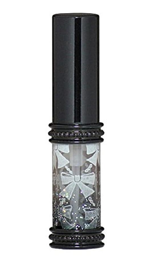 ではごきげんようメンタル純度ヒロセアトマイザー メタルリボン 16209 BK (メタルラメリボン ブラック)
