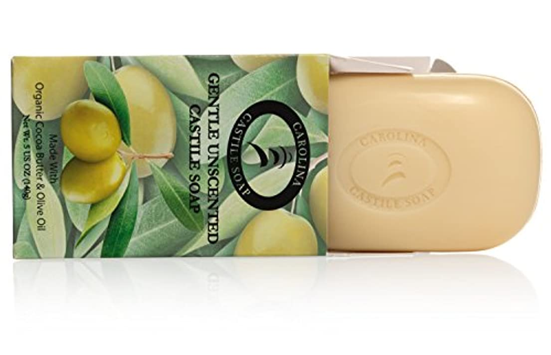 びっくりするプロジェクター提供Carolina Castile Soap カカオバターとオリーブオイル5オズ?バーズ(6パック)の有機カスティーリャ石鹸ジェントル無香料