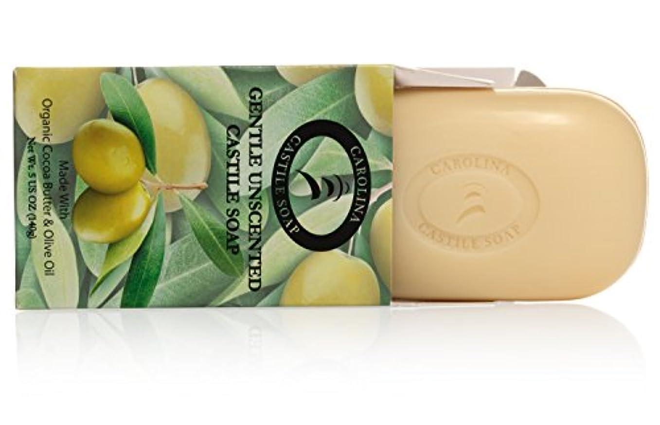 米国扇動葉を拾うCarolina Castile Soap カカオバターとオリーブオイル5オズ?バーズ(6パック)の有機カスティーリャ石鹸ジェントル無香料