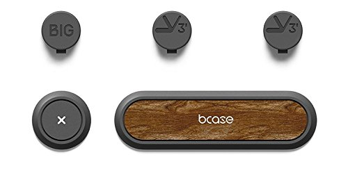 木目がお洒落な マグネット式ケーブルホルダー(ケーブルクリップ)磁石式で簡単にケーブルを3本まで固定 色:ウォルナット(クルミ)