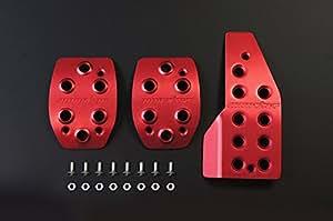 MONSTER SPORT ペダルカバーセット[レッド] ジムニー(JB23W/MT車)用 849520-5200M