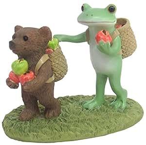 ダイカイ(DAIKAI) 置物 リンゴ狩りの帰り道 6.8×3.9×5.4cm コポー Copeau 72486