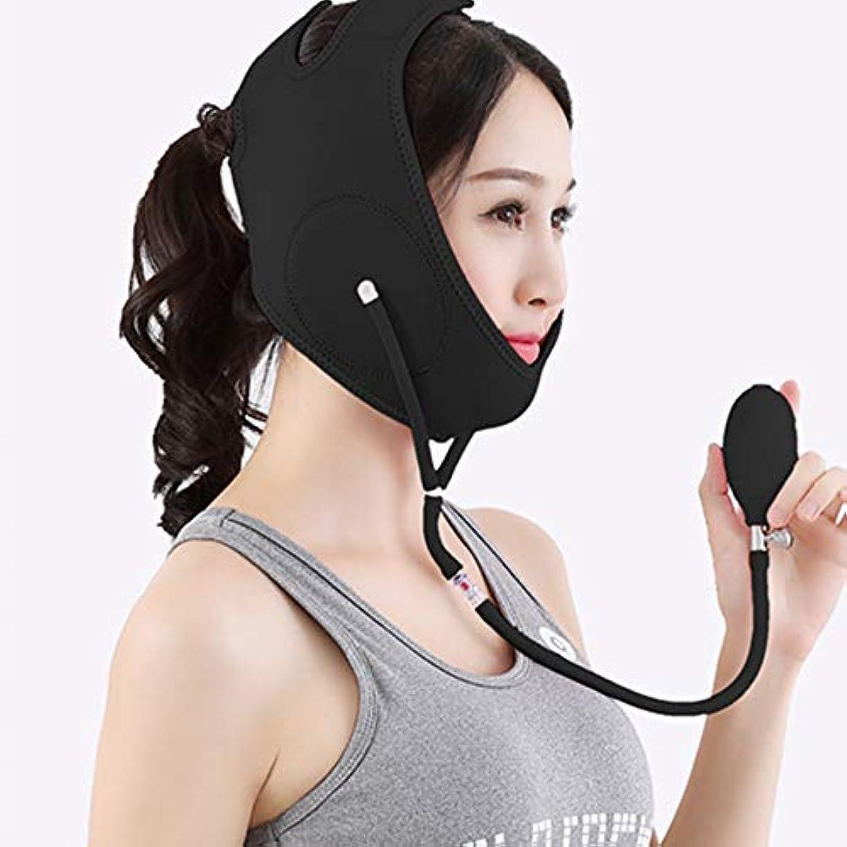 酸化する何故なの問い合わせる膨脹可能な表面持ち上がるベルト、V字型の顔の輪郭の二重あごの減力剤の通気性のV顔のマッサージャーのための携帯用完全