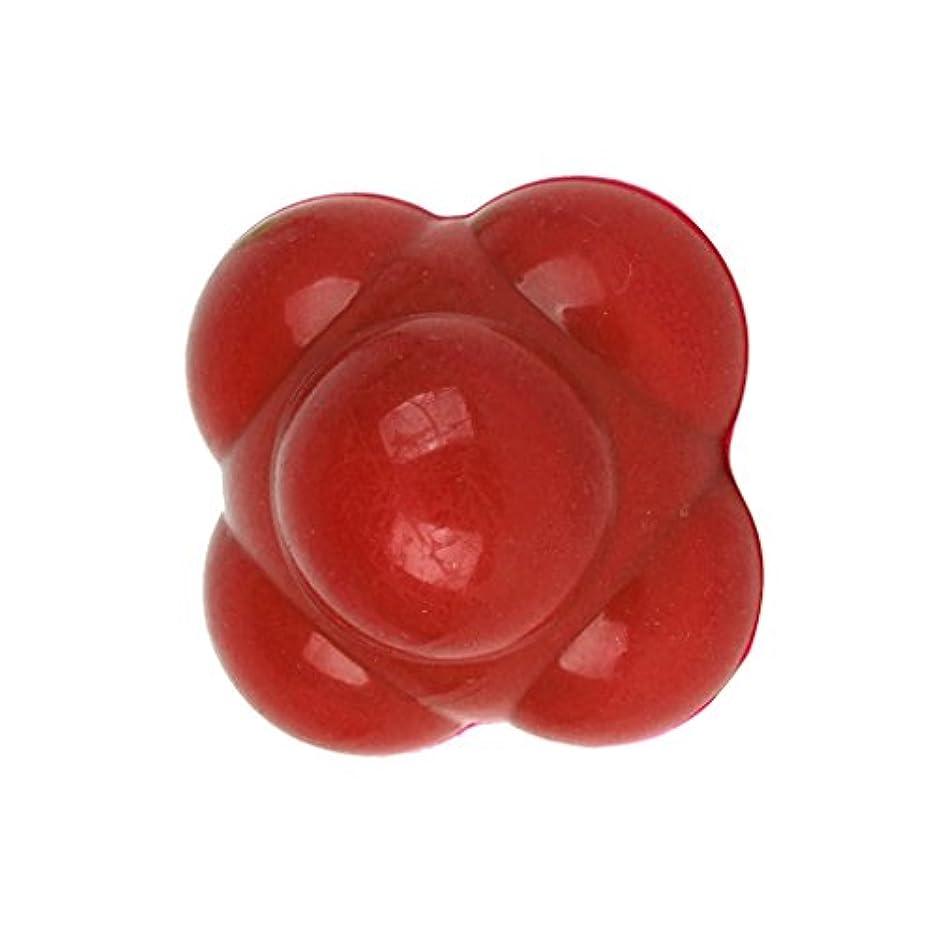 これら定期的なビン【ノーブランド品】六角反応ボール 六角マッサージボール 反射運動トレーニング赤