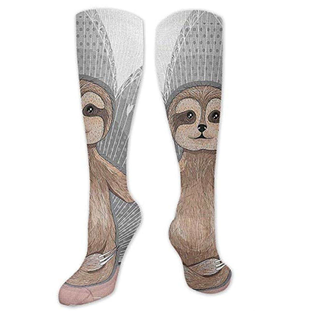 慢練習したに渡って靴下,ストッキング,野生のジョーカー,実際,秋の本質,冬必須,サマーウェア&RBXAA Little Cute Sloth Meditation Socks Women's Winter Cotton Long Tube...