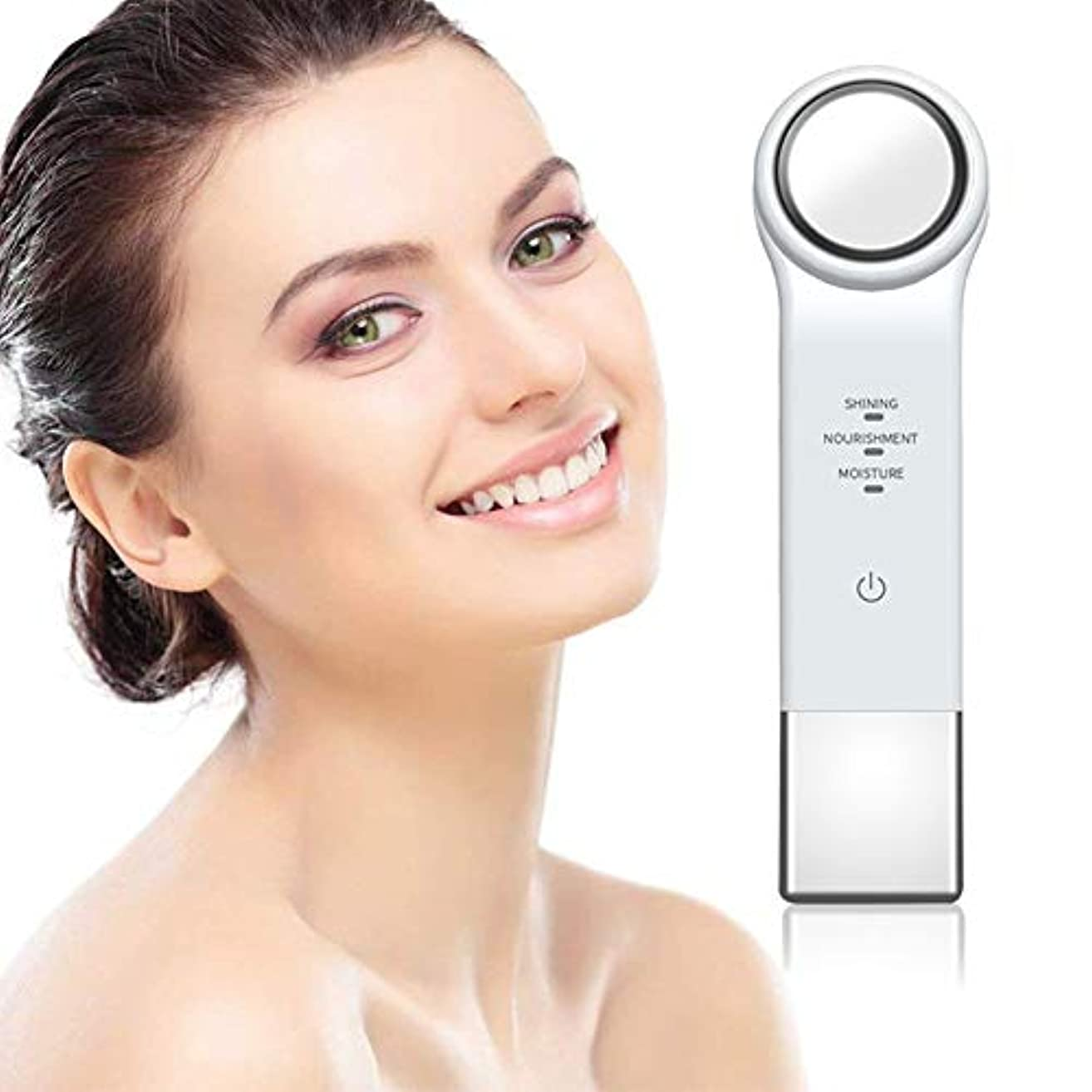 差し迫った項目属するフェイシャルフェイスマッサージ、USB充電多機能センシングエリアイオン美容機器 - アイ/フェイスナーシングエレクトリッククレンジング楽器