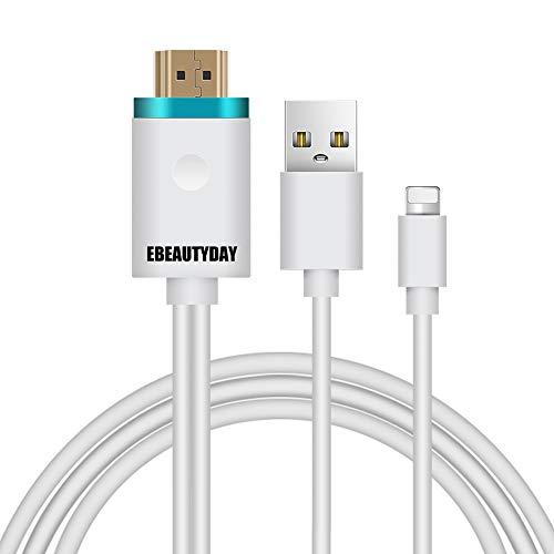 iPhone HDMI変換ケーブル JOYNEW アイフォンテレビ変換ケーブル iPhone/iPad/iPod対応 HDMI変換ケーブル 1080P高解像度テレビ出力ライトニング変換ケーブル