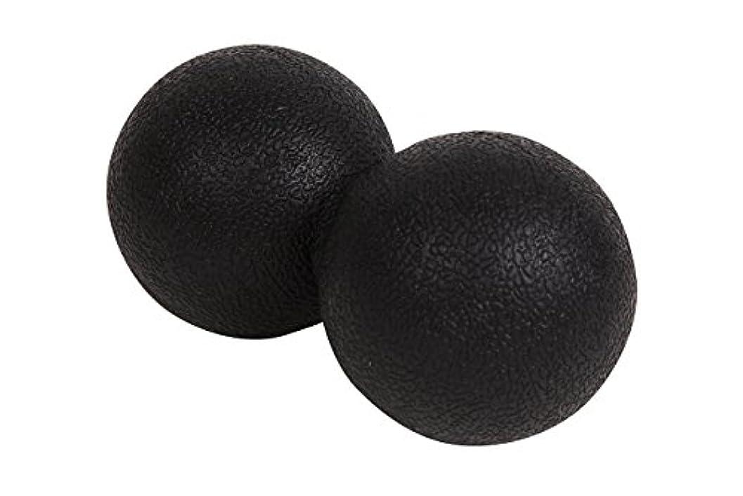 火山学者署名びっくりアポロン 肩こり ストレッチボール 背中 首 足裏 マッサージボール 腰 リハビリ ストレッチ ボール 仕事 疲れ ツボ押し これ一つで全身の凝りに (ブラック)