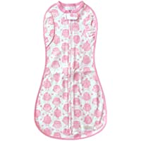Woombie Convertible Unvented Girl's Nursery Swaddling Blankets, Pink Owls, 14-19 Pounds by Woombie