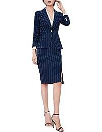 スーツレディース ストライプ秋 パンツ+ジャケット 通勤 就活 フォーマル カジュアル スーツ おおきいサイズ