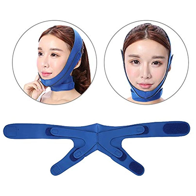 たとえ低下ビルダーVラインバンド首の圧縮の表面、反二重あごの 引き締まった肌の革紐の調節可能な引き締めの表面スキンケアの持ち上がる覆いのための持ち上がる表面ベルトの顔の細くのあごのマスク