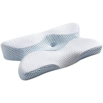 MyeFoam 改良された新時代 枕 安眠 人気 低反発枕 肩こり対策 ネックフィットまくら 快眠枕 頚椎サポート いびき防止 頭痛改善 安眠 横向き寝 ストレートネック矯正枕 呼吸が楽 通気性抜群 洗える ピロー