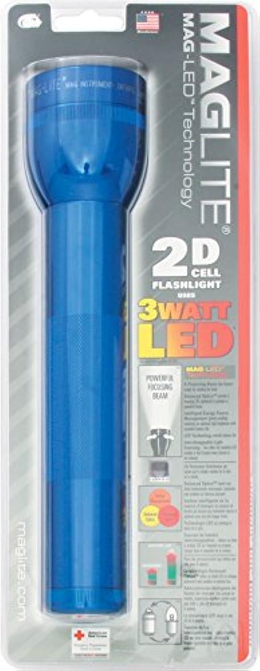 夫婦同行飲み込むMAG-LITE(マグライト) 2Dセル(単1電池2本) LED フラッシュライト ブルー 単1電池×2本 ST2D116