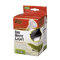 Zilla Reptile Terrarium Heat Lamps Incandescent Bulb, Day White, 75W by Zilla