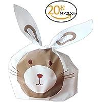 ANPHSIN-20枚セット バレンタイン お菓子 クッキー チョコレート ラッピング袋 結び袋 プチギフト ラッピンググッズ 袋 OPP袋 ネズミ クッキー 製菓-Mサイズ