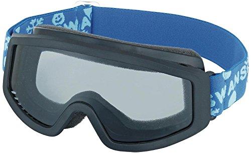 【国産ブランド】SWANS(スワンズ) 子供用 スキー スノーボード ゴーグル 3歳?10歳 シングルレンズ 101S BKBL ブラック×ブルー