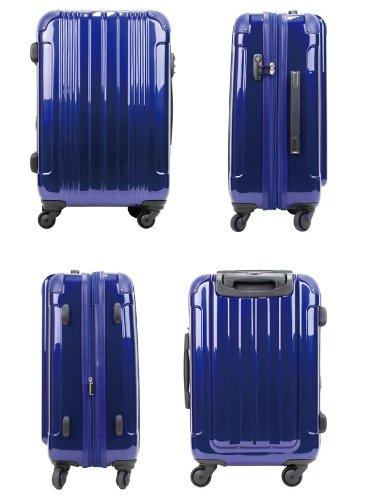 T&S ティーアンドエス LEGEND WAKER 軽量 スーツケース キャリーバッグ Mサイズ 5~7泊用 TSAロック PC+ABS鏡面仕上げ 5046-66 78(90)L/4.7kg (ワインレッド)