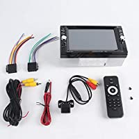 2 Din 6.6インチのタッチスクリーン車のMP 5 1080 P車のFMステレオセキュリティデジタルTF USB MP3 MP 5プレーヤー付きバックカメラ(Color:black)