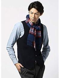 (ザ・スーツカンパニー) blazer's bank.com/チェック柄ウールマフラー/Fabric by MOON/ブルー×レッド