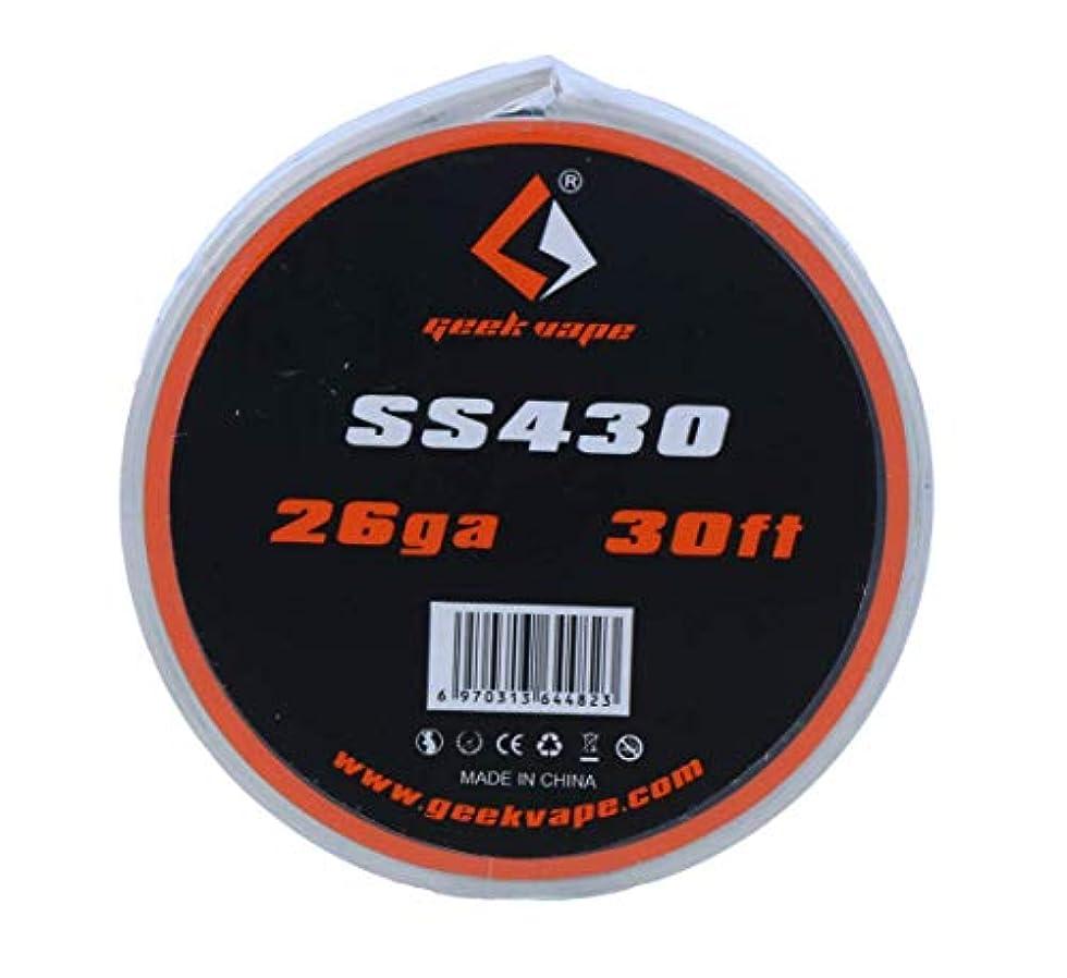 極貧機関パウダーGeek Vape SS430 Tape Wire ステンレスワイヤー (26GA) GeekVape
