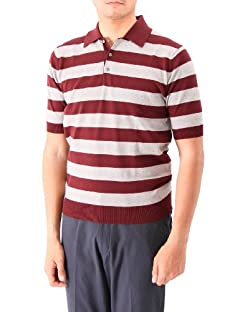 Stripe Polo Sweater 1118-106-0155: Wine