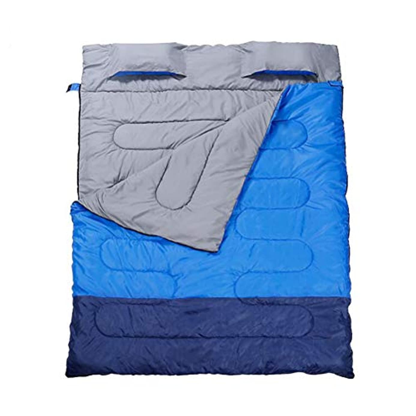 びっくりしたこしょうセンチメンタルダブル寝袋、長方形の寝袋、屋内と屋外の、3シーズン、エクストラロング、暖かい充填、大人用キャンプ、バックパッキング、ハイキング、テント、屋外のキャンピングカー